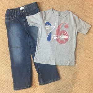 Children Place Jeans & Gap tee size 5 & xsmall 4/5